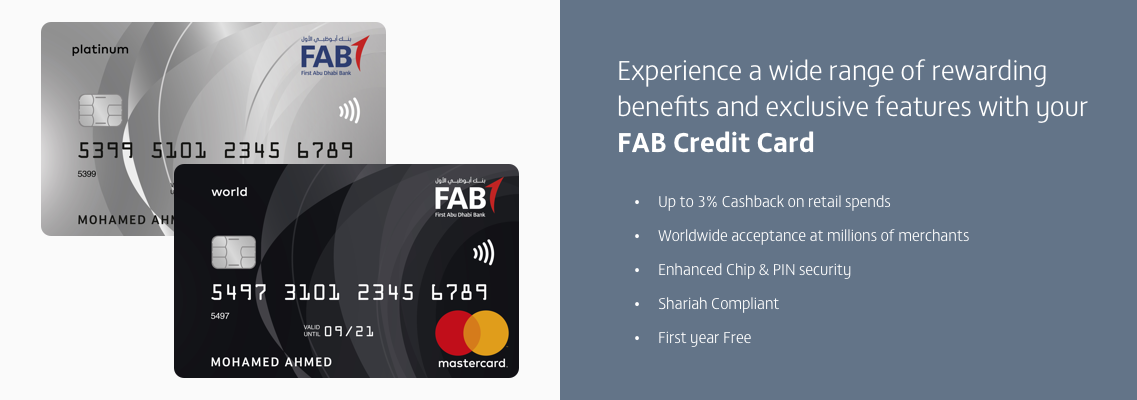 Credit Cards | First Abu Dhabi Bank (FAB) - Saudi Arabia